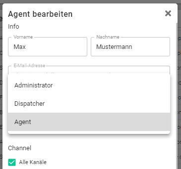 Agent anlegen
